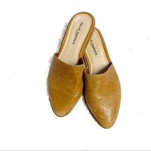 Kelsi Dagger Amory tan brown leather slip on mules
